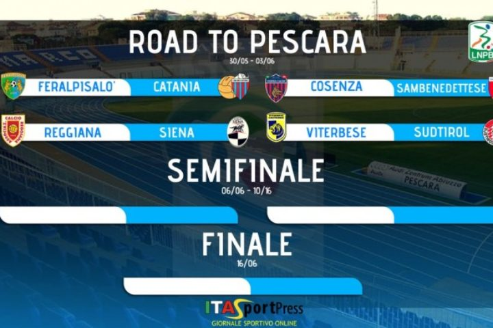 Serie C, ecco l'esito dei sorteggi playoff;  sara' Reggiana _ Siena