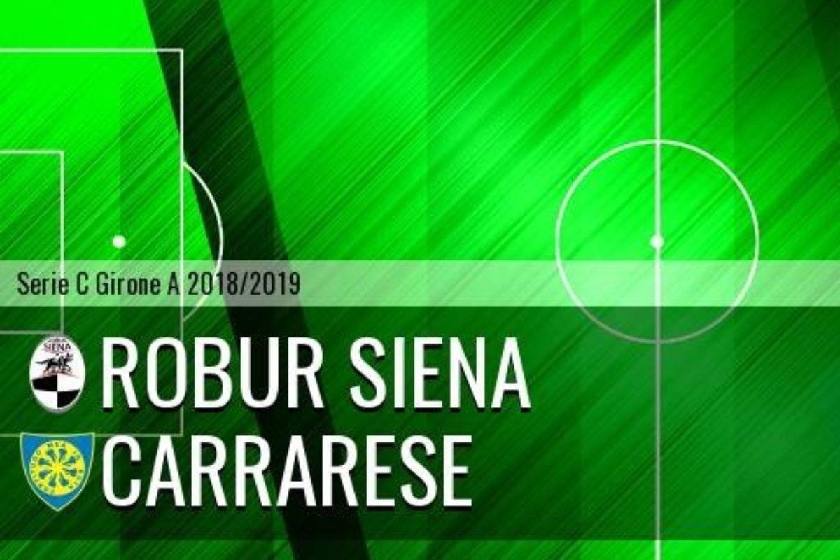 Carrarese crolla a Siena (3-0) tra mille recriminazioni