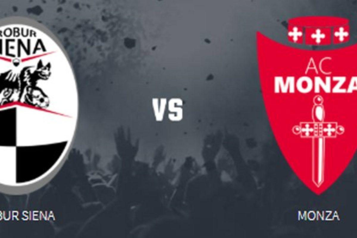 Siena-Monza 2-2, Robur in rimonta. Succede tutto nel primo tempo